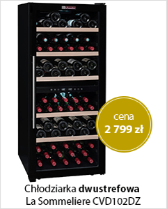 Chłodziarka do wina dwustrefowa La Sommeliere CVD102DZ