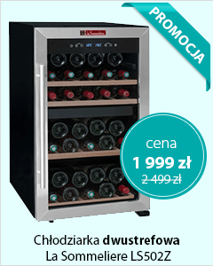 Chłodziarka do wina dwustrefowa La Sommeliere LS502Z