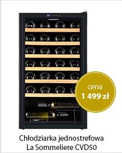Chłodziarka do wina jednostrefowa  La Sommeliere CVD50