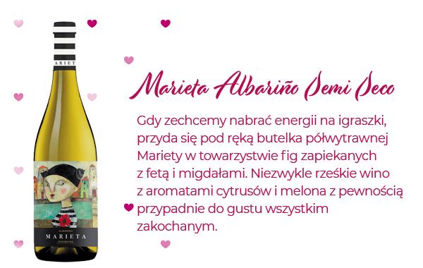 Subtelne i oGdy zechcemy nabrać energii na igraszki, przyda się pod ręką butelka półwytrawnej Mariety w towarzystwie fig zapiekanych z fetą i migdałami. rzeźwiające różowe wino idealne na walentynki